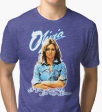 Olivia Newton-John - 70's  If You Love Me, Let Me Know Tri-blend T-Shirt