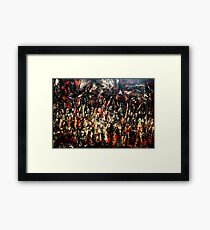 ABSTRACT ARMY OF DARKNESS Framed Print
