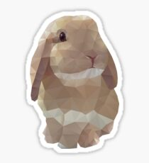 Peanut Bunny the Rabbit Polygon Art Sticker