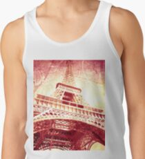 Eiffel Tower in Crimson and Yellow Tank Top