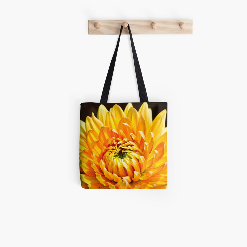 Bright Yellow Chrysanthemum Tote Bag