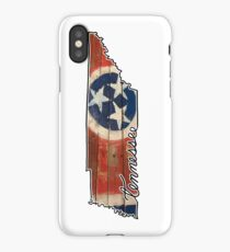 Tennessee State Outline and Flag iPhone Case/Skin