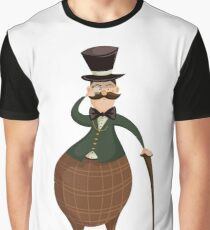 Gentleman with monocle and stick. Graphic T-Shirt