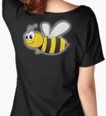 BEE, Cartoon, Bumble, Flying, Insects, Kids, Honey,  Women's Relaxed Fit T-Shirt