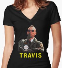 Travis Bickle Women's Fitted V-Neck T-Shirt