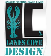 Lane Cove Design supports Cancer research Poster