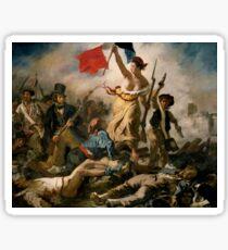 Liberty guiding the people 'Eugène Delacroix Sticker
