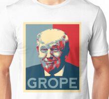 Donald Trump Grope Poster. (Obama hope parody) Unisex T-Shirt