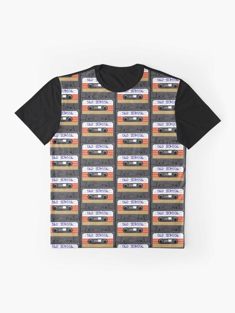 Vista alternativa de Camiseta gráfica Musica de la vieja escuela