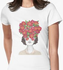 The optimist // rose tinted glasses Womens Fitted T-Shirt