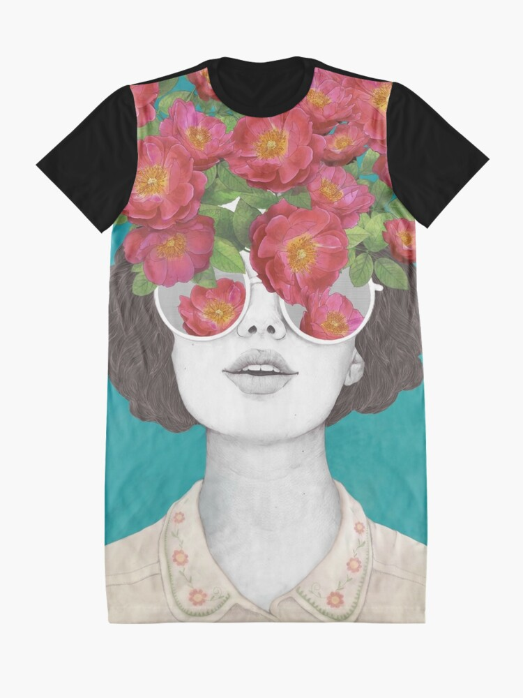 Alternate view of The optimist // rose tinted glasses Graphic T-Shirt Dress