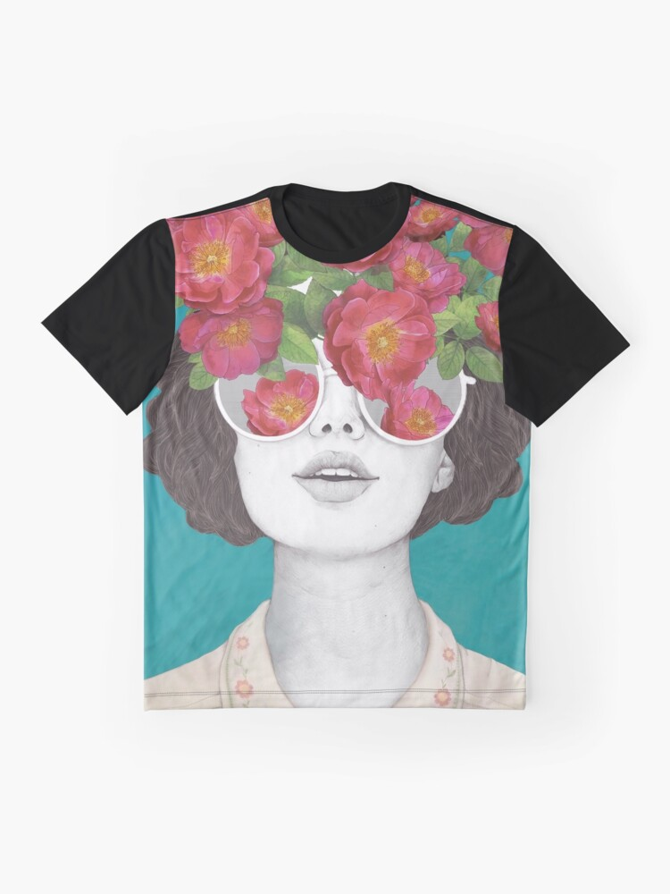 Alternate view of The optimist // rose tinted glasses Graphic T-Shirt