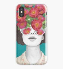 The optimist // rose tinted glasses iPhone Case/Skin