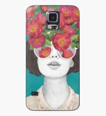 The optimist // rose tinted glasses Case/Skin for Samsung Galaxy
