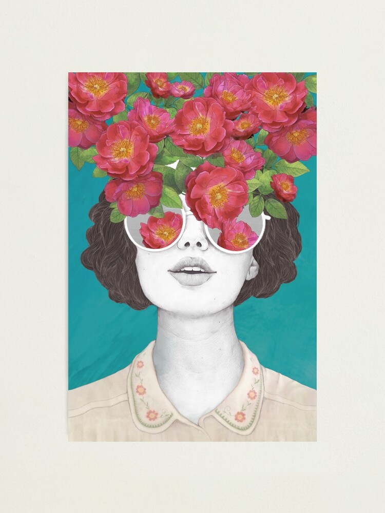 Alternate view of The optimist // rose tinted glasses Photographic Print