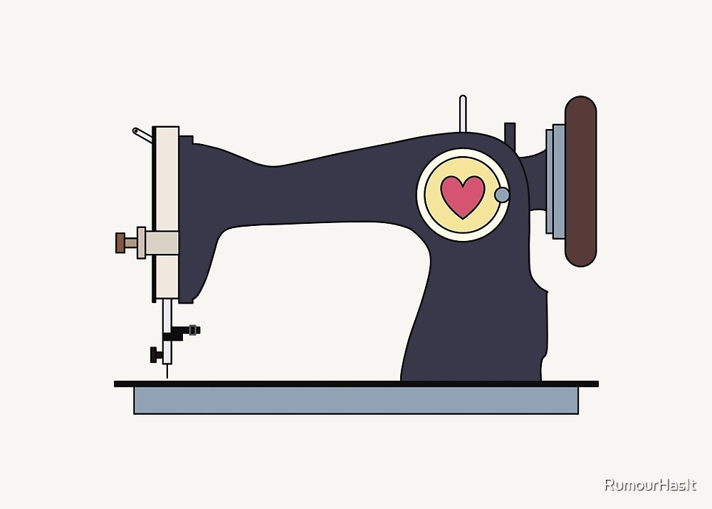 Retro Sewing Machine by RumourHasIt