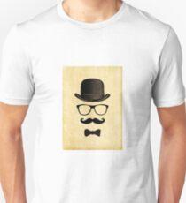 Vintage/Hipster Moustache Man Unisex T-Shirt