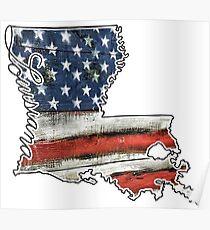 Louisiana USA Flagge Poster