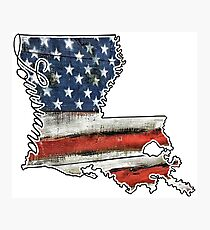 Louisiana USA Flag Photographic Print