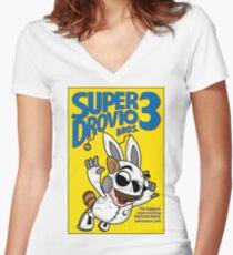 Super Drovio Bros Women's Fitted V-Neck T-Shirt