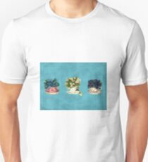 Vintage Flowers in Cups Unisex T-Shirt