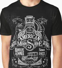 American Moonshine Vintage Whiskey Label Graphic T-Shirt