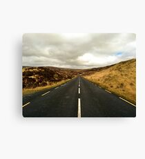 Empty Road Donegal Canvas Print