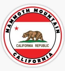 MAMMOTH MOUNTAIN CALIFORNIA SKIING SKI SNOWBOARDING HIKING CLIMBING  20 Sticker