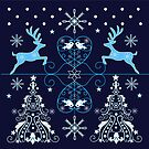 Decorative Christmas Holiday vector illustration design by walstraasart