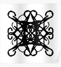 Black Pattern - 4 Poster