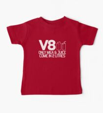 V8 - Only milk & juice come in 2 litres (1) Baby T-Shirt