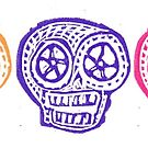 Mexican Paper Skulls by Crafty Hag by craftyhag