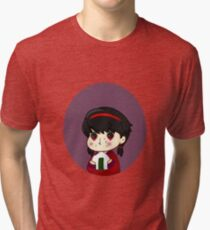 Babu Hattori eating a rice ball Tri-blend T-Shirt