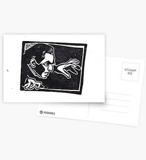 The Vampire Creeps by Crafty Hag Postcards
