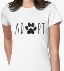 Adopt Dogs Women's Fitted T-Shirt