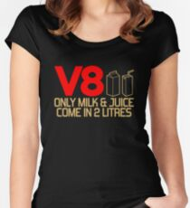 V8 - Only milk & juice come in 2 litres (3) Women's Fitted Scoop T-Shirt