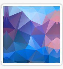 Colored polygon pattern.Amethyst. Sticker