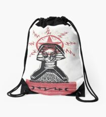 Super Sphinx by Crafty Hag Drawstring Bag