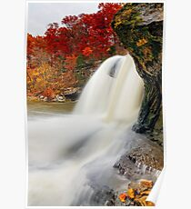 Autumn Whitewater in Indiana Poster