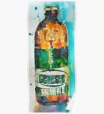 Genesee Cream Ale Beer Art Print - Original Watercolor  Poster