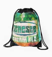 Genesee Cream Ale Beer Art Print - Original Watercolor  Drawstring Bag