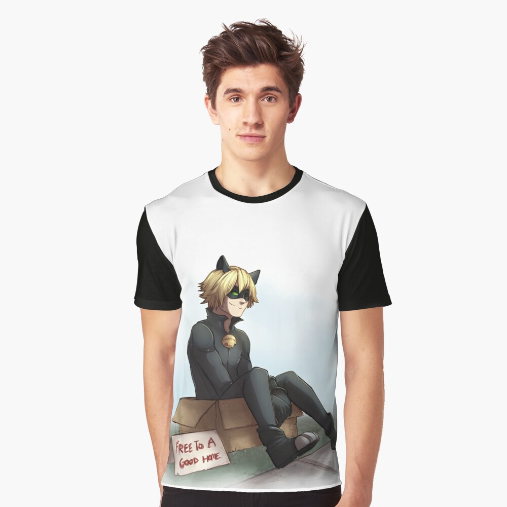 Cat Noir: Free To A Good Home Graphic T-Shirt Front