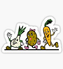 VEGGIES, Vegetables, Vegitarian, Veegan, Veg, Cartoon, fun, funny Sticker