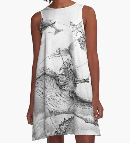 Wind Whales A-Line Dress
