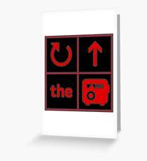 Turn Up the Radio Grid Greeting Card