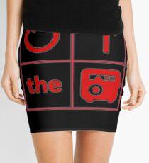 Turn Up the Radio Grid Mini Skirt