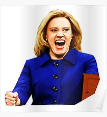 Kate Mckinnon as Hillary Clinton Poster
