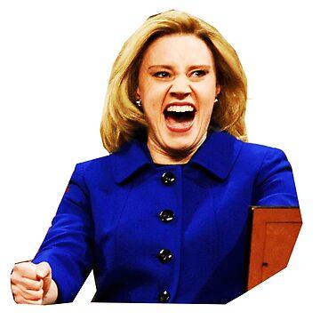 Kate Mckinnon as Hillary Clinton by jessguida
