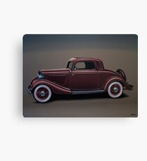 Ford 3 Window Coupe Painting Canvas Print