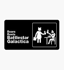 Bears, Beets, Battlestar Galactica Photographic Print